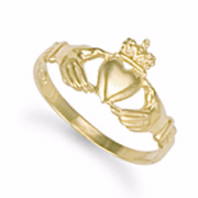 9ct Gold Small Claddagh Ring 1.9g
